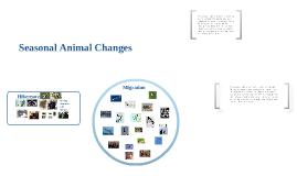 Seasonal Changes for Animals