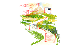 Comparison of the uses of microwaves and infrared radiation