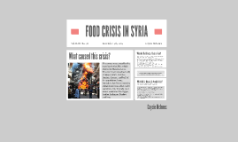 FOOD CRISIS IN SYRIA
