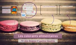 Les colorants alimentaires