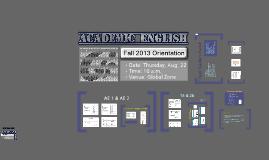 AE Orientation: Fall 2013 (Aug. 22)