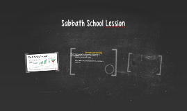 Sabbath School Lession