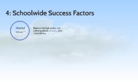 Schoolwide Success Factors: