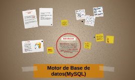 Motor de Base de datos(MySQL)