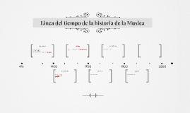 Linea del tiempo de la historia de la Musica