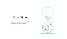 Analisis situacional de tiendas departamentales: ZARA