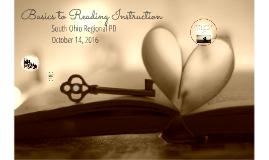 Basics to Reading Instruction Dayton