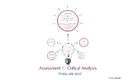 Assessment 1 - Critical Analysis