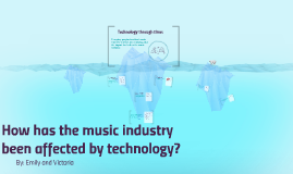 How has the music industry been affected by technology?