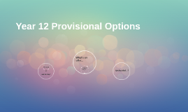 Year 12 Provisional Options