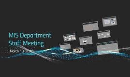 MIS Department Staff Meeting