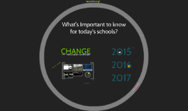 Copy of What's Important to know for today's schools?