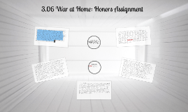 Copy of 3.06 War at Home: Honors Assignment