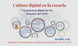 Competencia digital de los docentes del SXXI