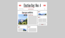 Election Day: Nov. 4