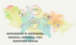 Instrumentos de observación, encuesta, entrevista, test, tra