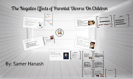 The Negative Effects of Divorce on Children