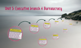 Unit 5: Executive branch & Bureaucracy