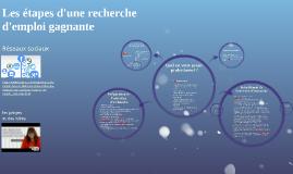 2016 OTECI LR Les étapes d'une recherche d'emploi gagnante.
