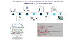 TRANSFORMACION ESPACIAL EN ENTORNOS RURALES. ESPACIO PUBLICO Y PRACTICAS SOCIOCULTURALES.