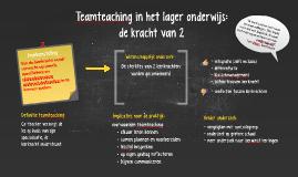 ONDERWIJSINNOVATIE: teamteaching