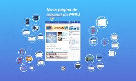 Nova página de intranet
