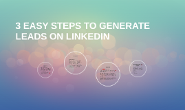 3 EASY STEPS TO GENERATE LEADS ON LINKEDIN