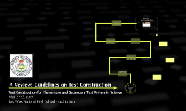 Guidelines on Test Construction
