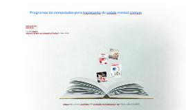 Copy of Tratamento com programas de computador para saúde mental