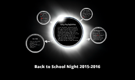 Back to School Night 2015-2016 CP