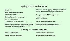 Spring Framework 3: New features