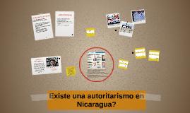 Existe una autocracia en Nicaragua?