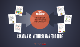 CANADIAN VS. MEDITERRANEAN FOOD GUIDE