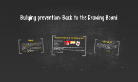Copy of Bullying Prevention: Back to the Drawing Board