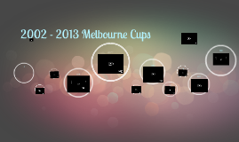 2002-2013 MELBOURNE CUPS