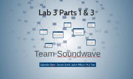 Lab 3 Parts 1 & 3