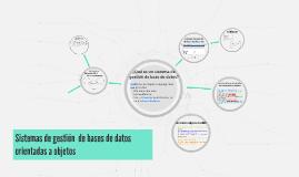 Sistemas de gestión  de bases de datos orientadas a objetos