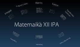 Materi MTK Kelas XII IPA