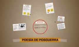 POESIA DE POSGUERRA