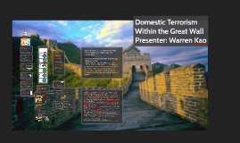 Terrorism Inside the Great Wall