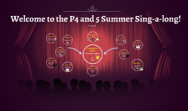 Welcome to the P4 and 5 Summer Sing-a-long!