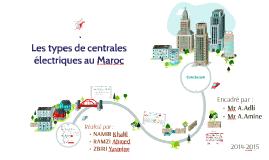 Copy of Les types de centrales électriques au Maroc