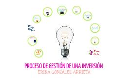 PROCESO DE GESTIÓN DE UNA INVERSIÓN