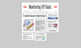 Monitoring IEP Goals