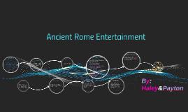 Ancient Rome entertainment