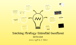 Teaching Strategy: Essential Questions