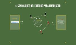 4. CONDICIONES DEL ENTORNO PARA EMPRENDER