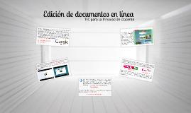 Edición de documentos en línea