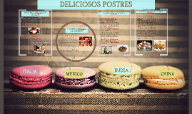 Copy of Postres de diferentes paises