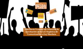 ¿Quiénes hicieron la Marcha en contra de la Ley Mordaza?